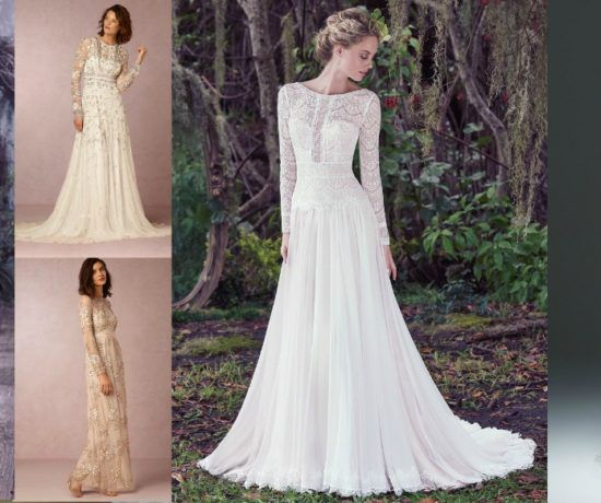 Long Sleeved Wedding Dresses We Love: Great Etsy Finds For Your Bridesmaids