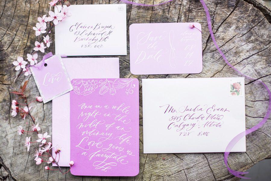 Lilac & Violet Wedding Inspiration - Rustic Wedding Chic