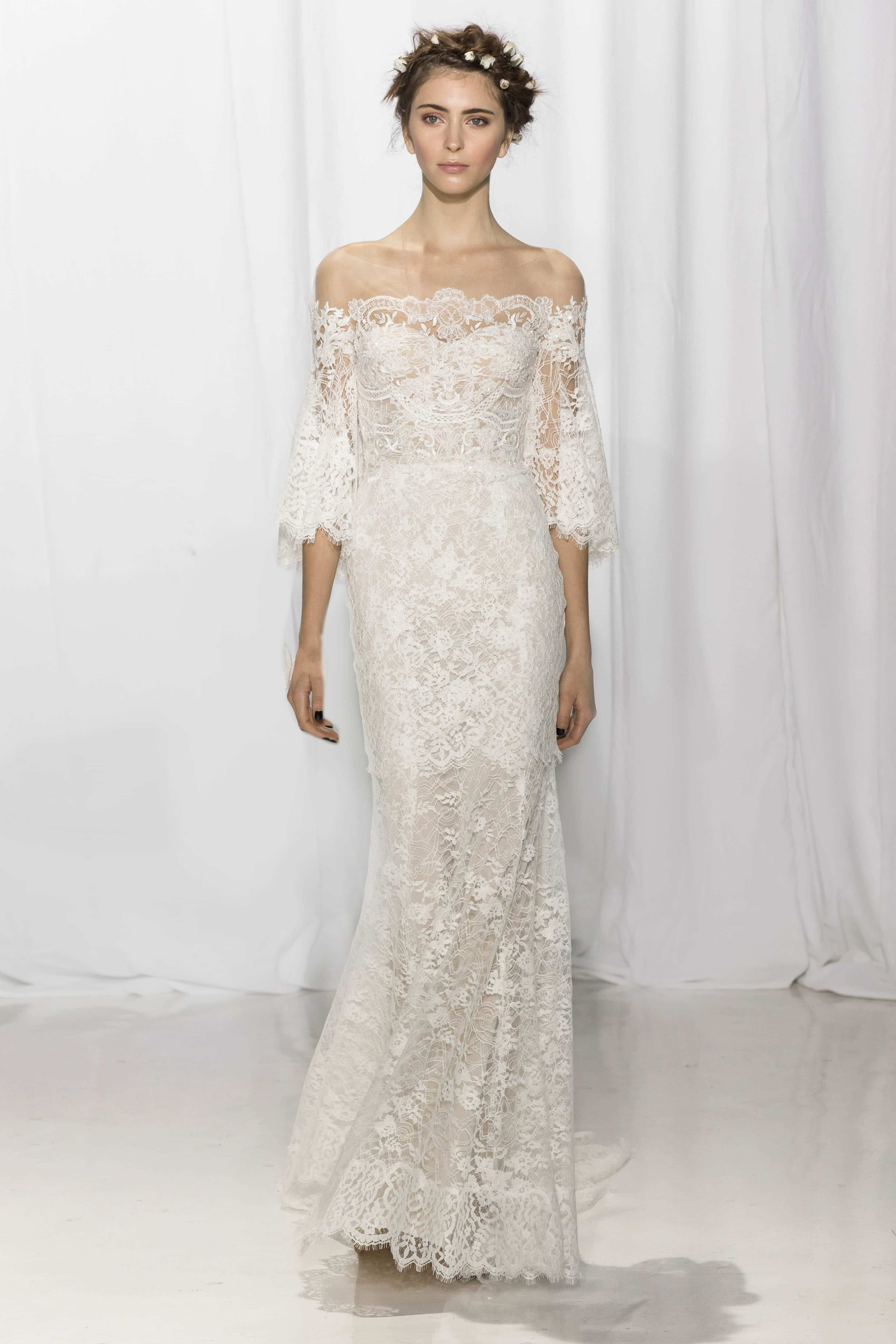 Reem Acra Fall 2017 Collection Rustic Wedding Chic