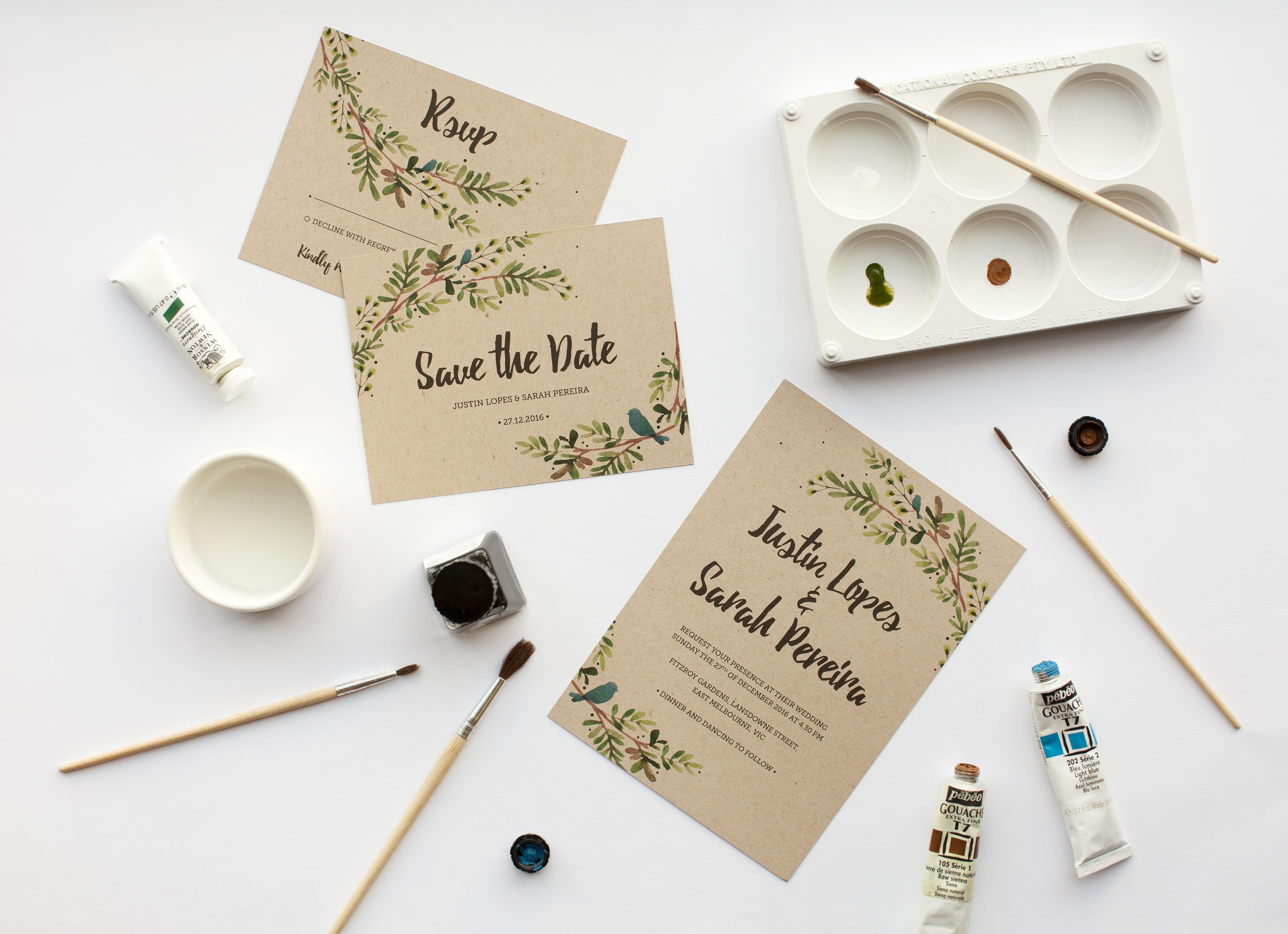 Behind the Design: Rustic Garden Invitation Suite by Nadine Warapen ...