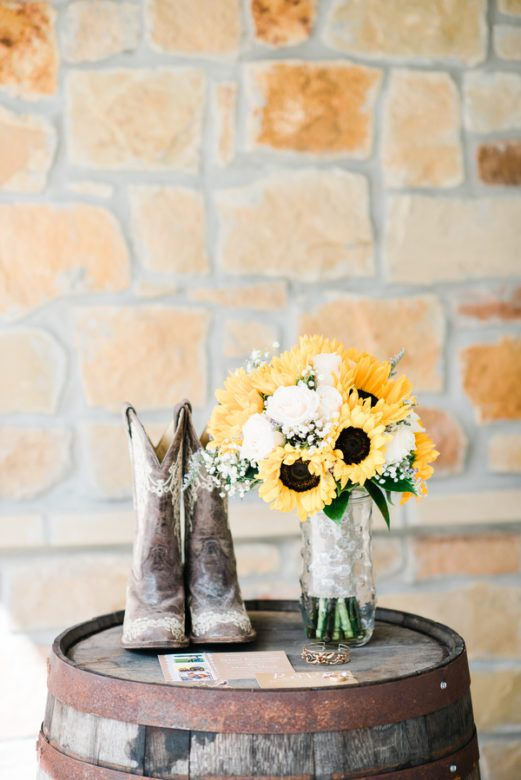 southern sunflower country wedding