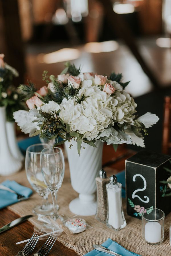 Rustic Candle Centerpiece Ideas : Maryland winery wedding rustic chic