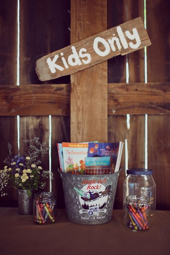 The Best Kids Table Ideas For Your Wedding Rustic