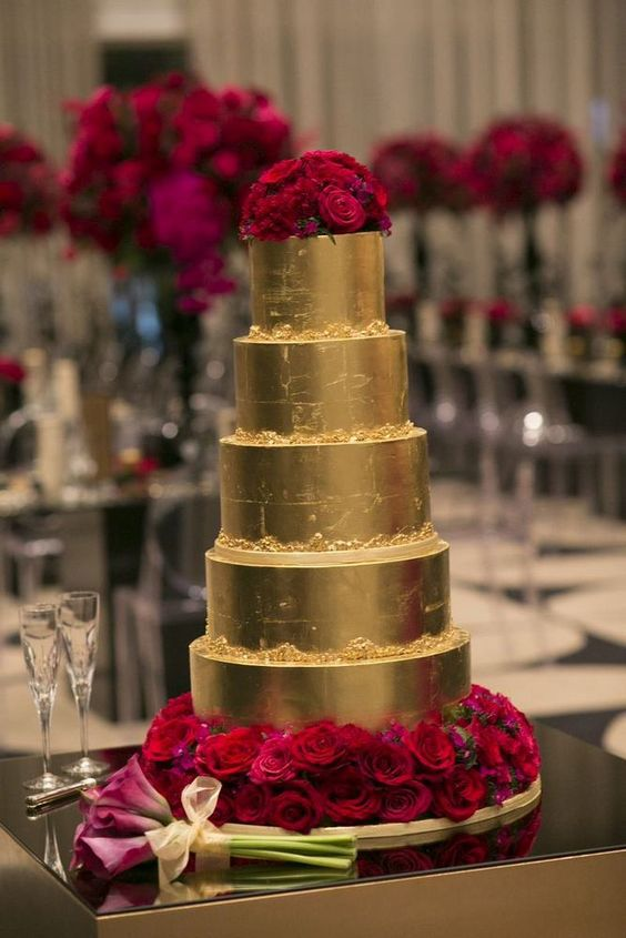 red and gold wedding cake designs wedding cake trends rustic wedding chic 19077