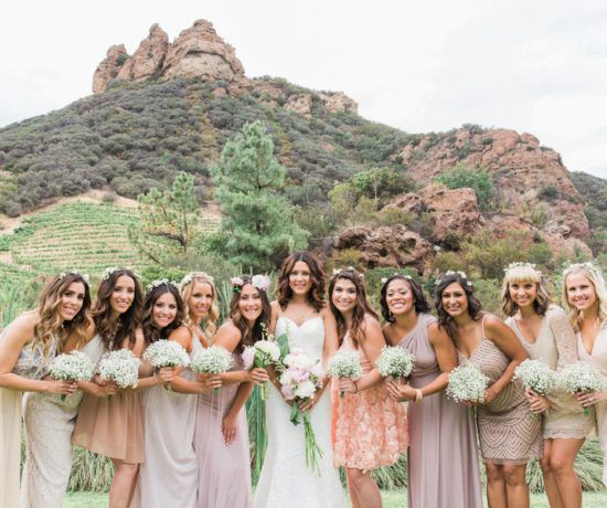 Rustic Style Bridesmaids