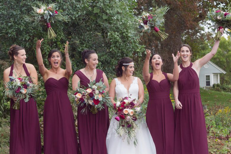 Rustic Wedding Bridesmaids