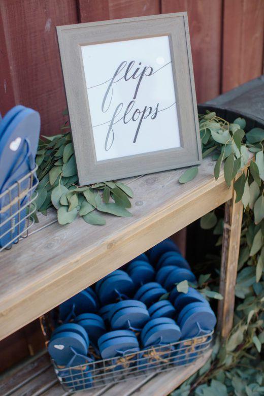 Flip Flops At Wedding