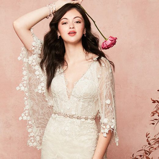 lace cottagecore bridal gown