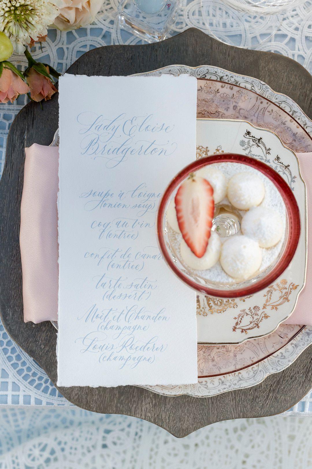 bridgerton netflix wedding table