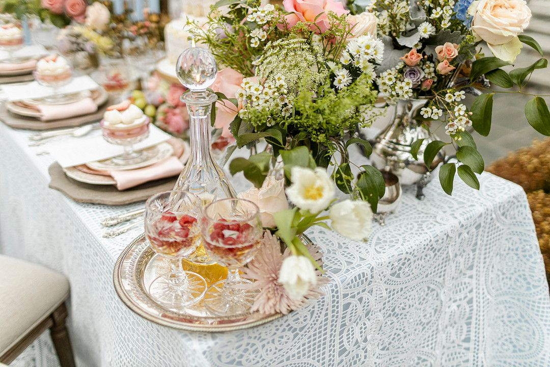 bridgerton netflix wedding tablescape