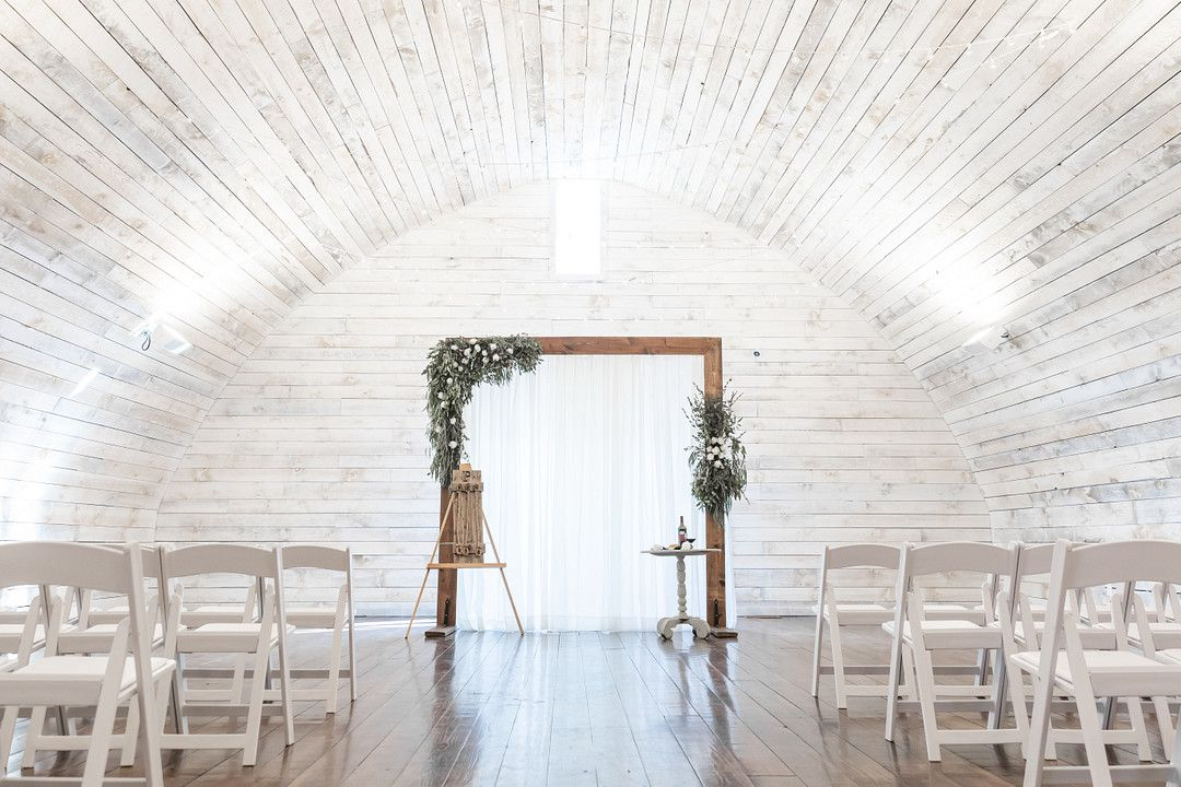 wedding altar and chairs