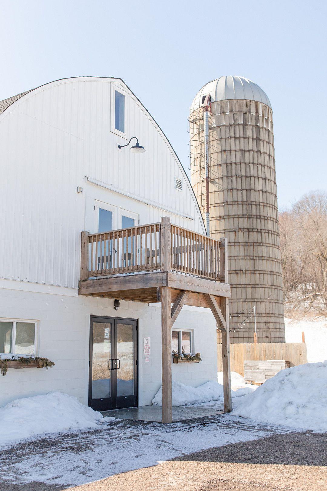 white barn wedding venue