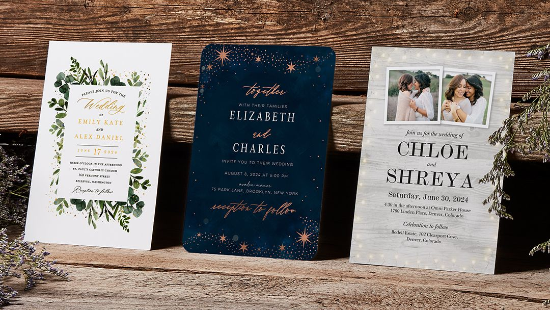 light inspired wedding invitations from the wedding shop by shutterfly