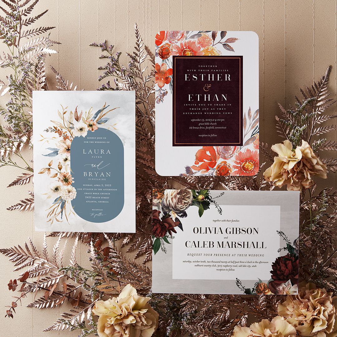 wild botanical wedding invitations from the wedding shop by shutterfly