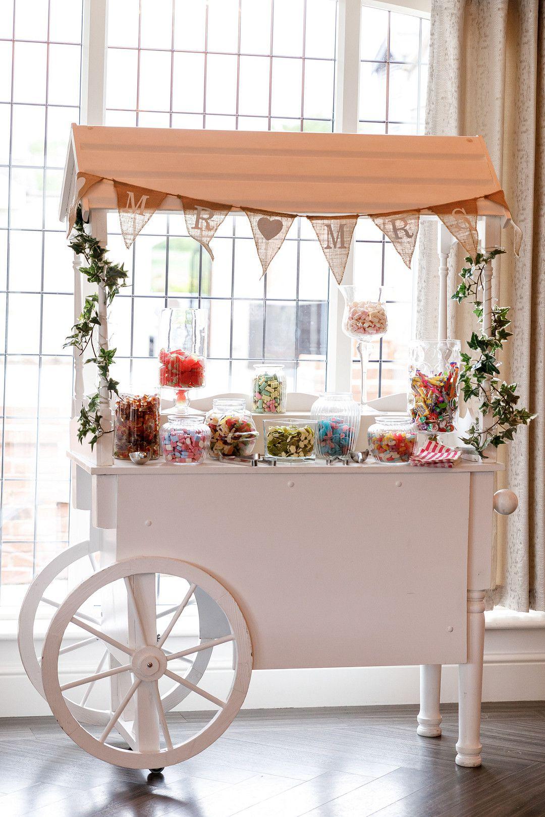 elegant summer wedding candy bar