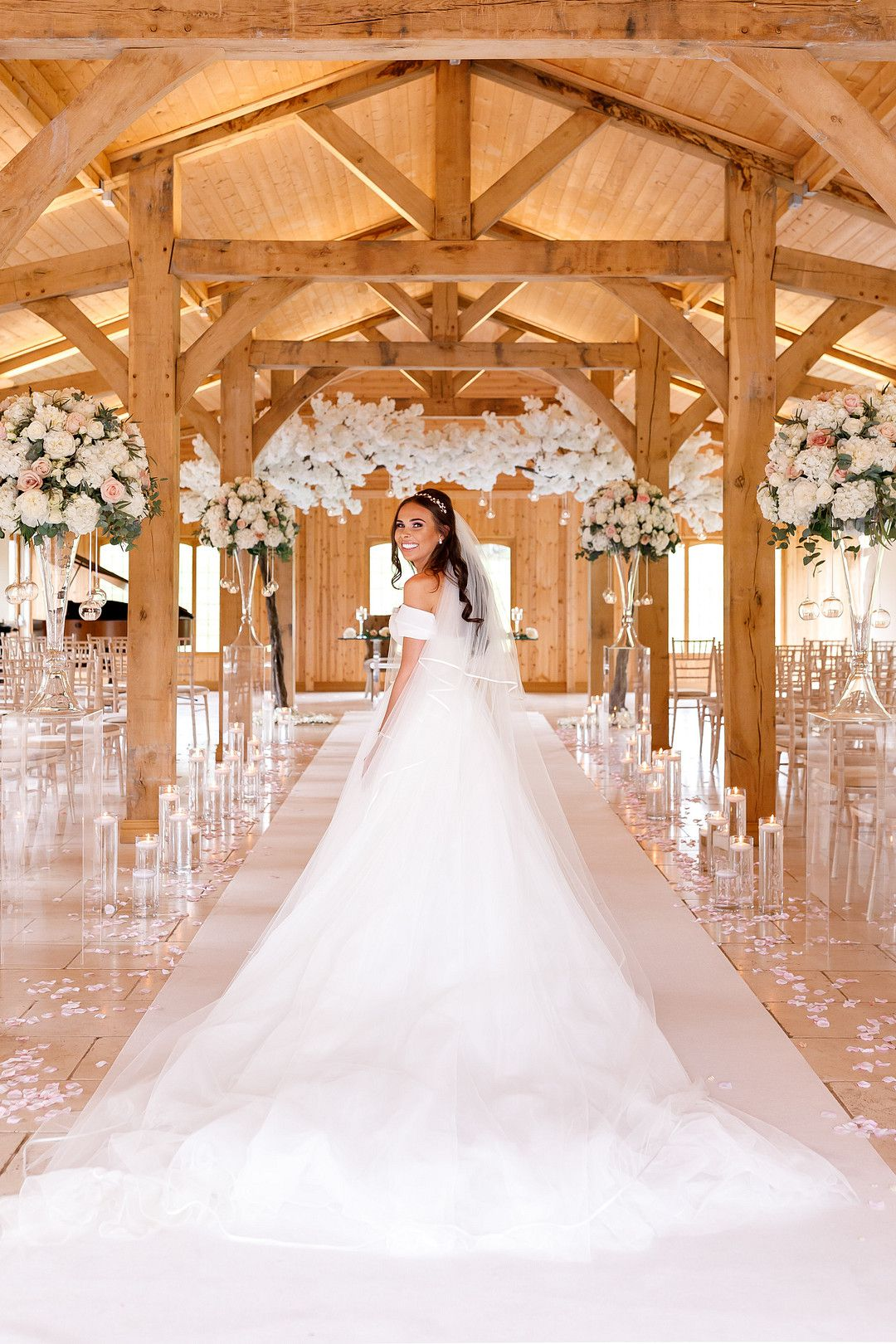 bride looking back at camera