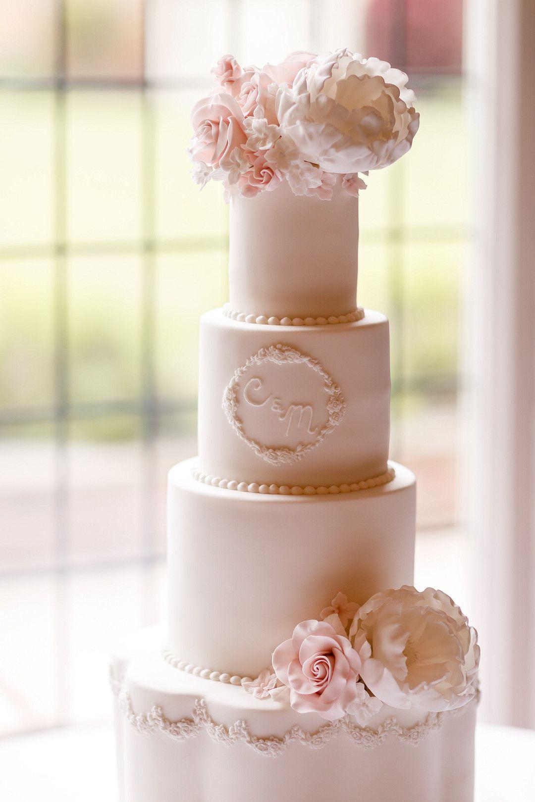 elegant summer wedding cake