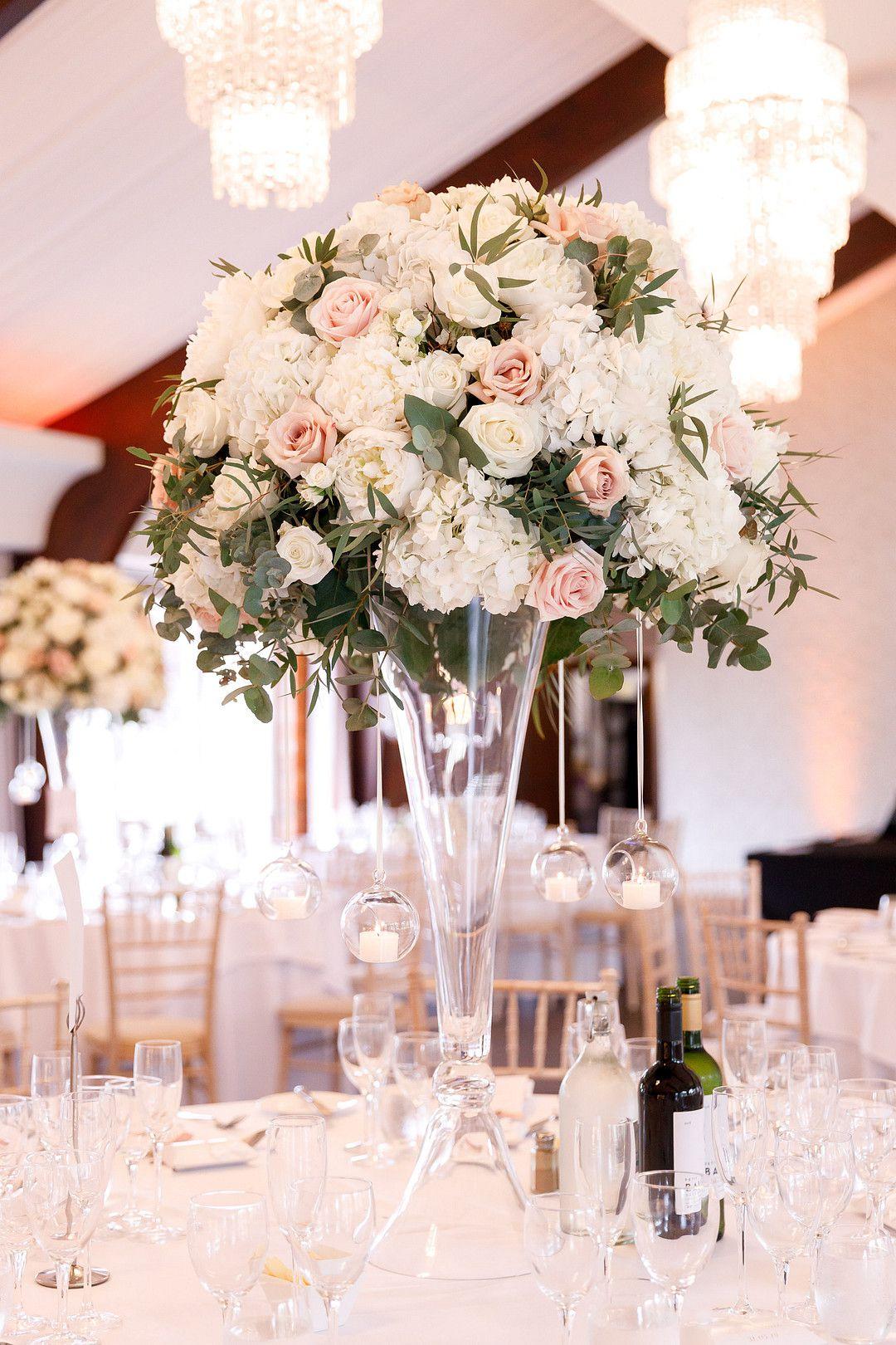 elegant summer wedding table center piece