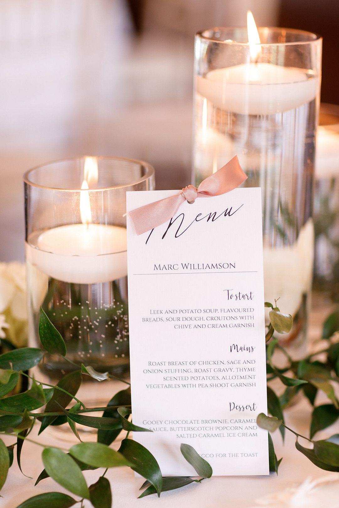 elegant summer wedding menu