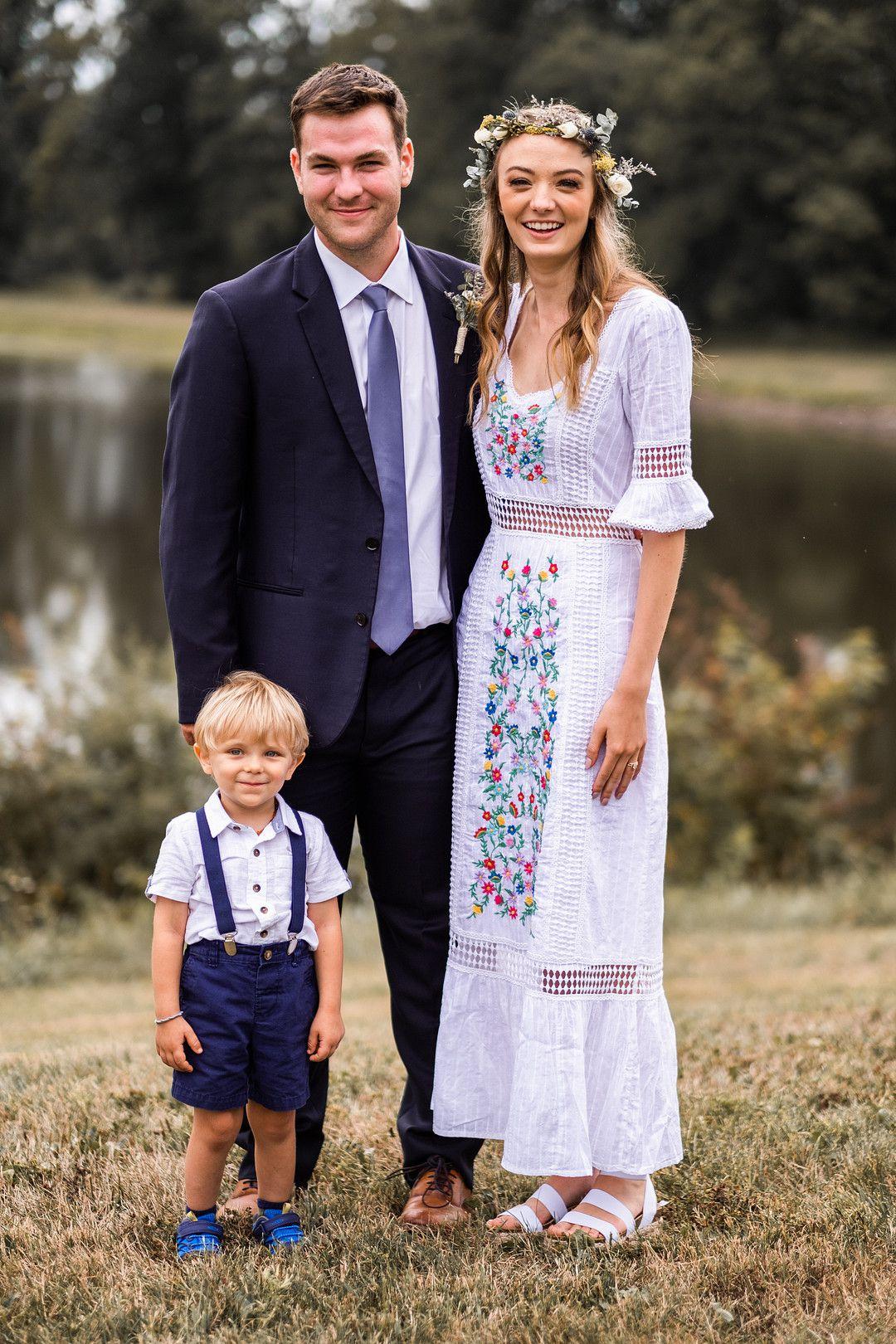 bride, groom, and ring bearer