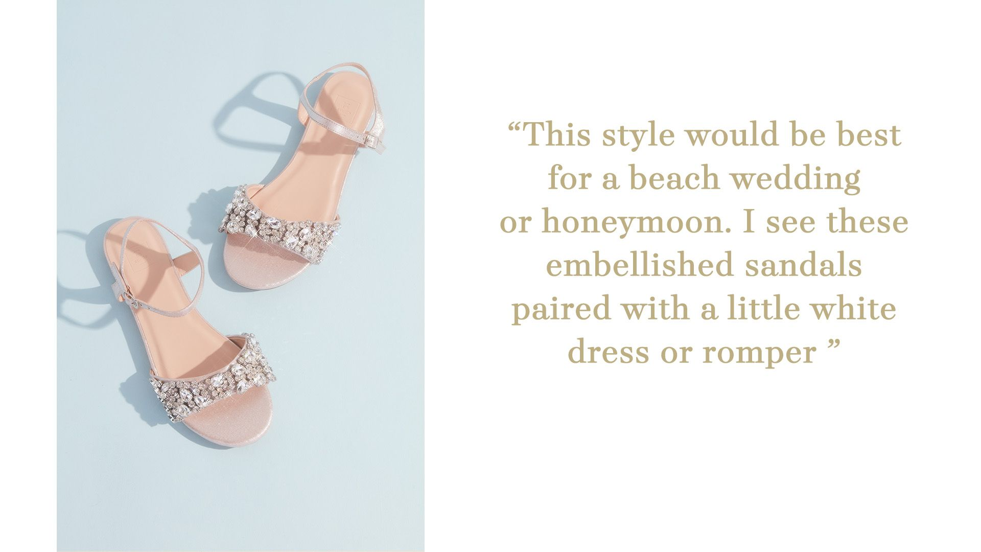 flat sandal with crystal embellishment