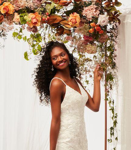bride wearing fall 2021 wedding dress
